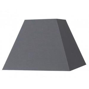 Abat-jour carré pyramide gris ardoise