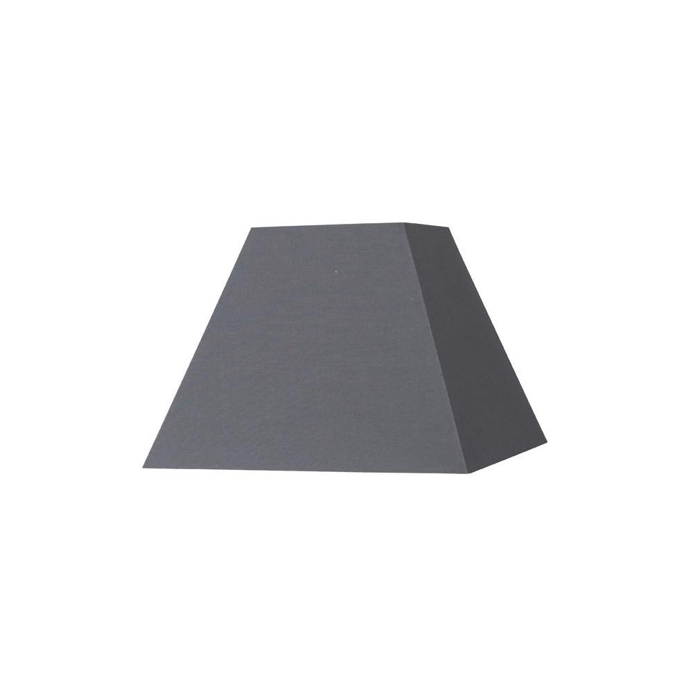 abat jour carr pyramide gris ardoise sur lampe avenue. Black Bedroom Furniture Sets. Home Design Ideas