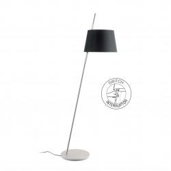 Lampadaire moderne noir avec interrupteur
