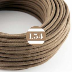 Fil �lectrique tissu marron coton
