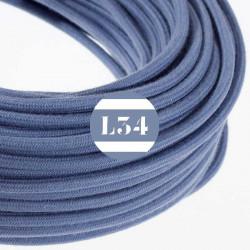 Fil �lectrique tissu gris pierre coton