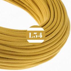 Fil �lectrique tissu jaune dor� coton