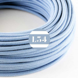 Fil �lectrique tissu bleu oc�an coton