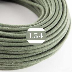 Fil �lectrique tissu gris vert coton
