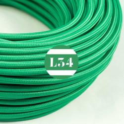 Fil �lectrique tissu vert soie