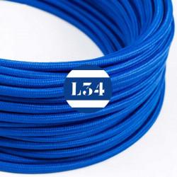 Fil �lectrique tissu bleu soie