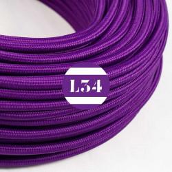 Fil �lectrique tissu violet soie