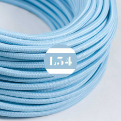 Fil �lectrique tissu bleu azur soie