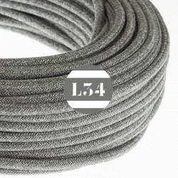 Fil �lectrique tissu gris lin