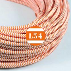 Fil �lectrique tissu ZigZag orange et blanc