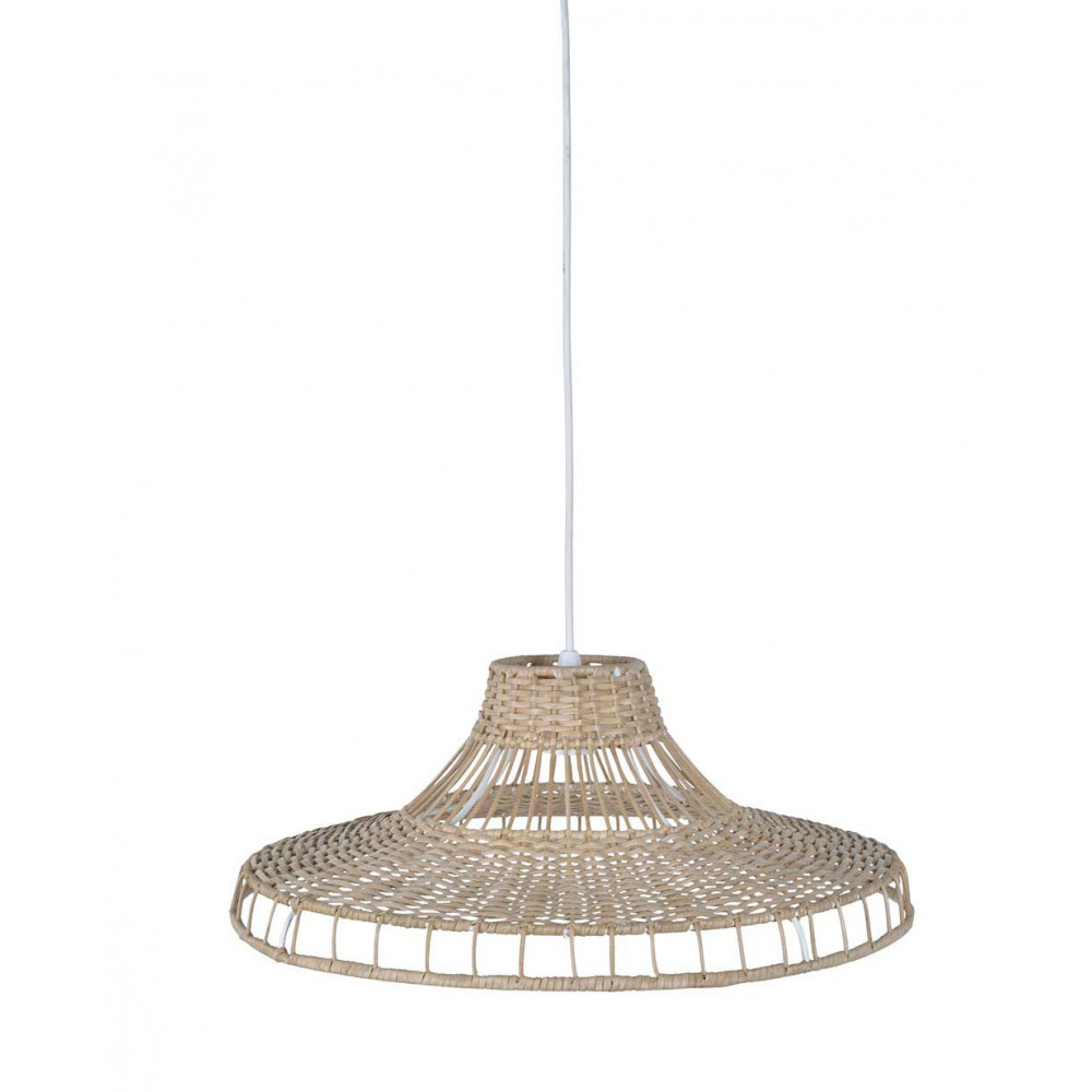 Luminaire en rotin naturel grande largeur for Grande suspension luminaire