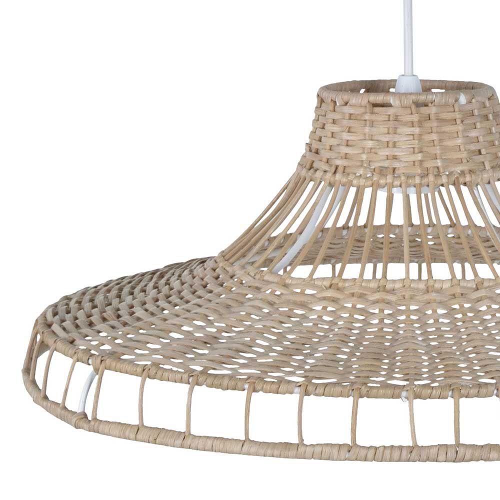 luminaire en rotin naturel grande largeur. Black Bedroom Furniture Sets. Home Design Ideas
