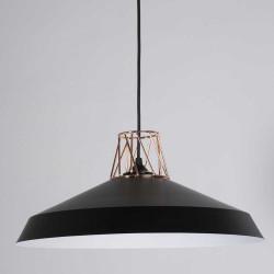 lampe plafond design noire