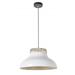 Luminaire plafond bambou blanc