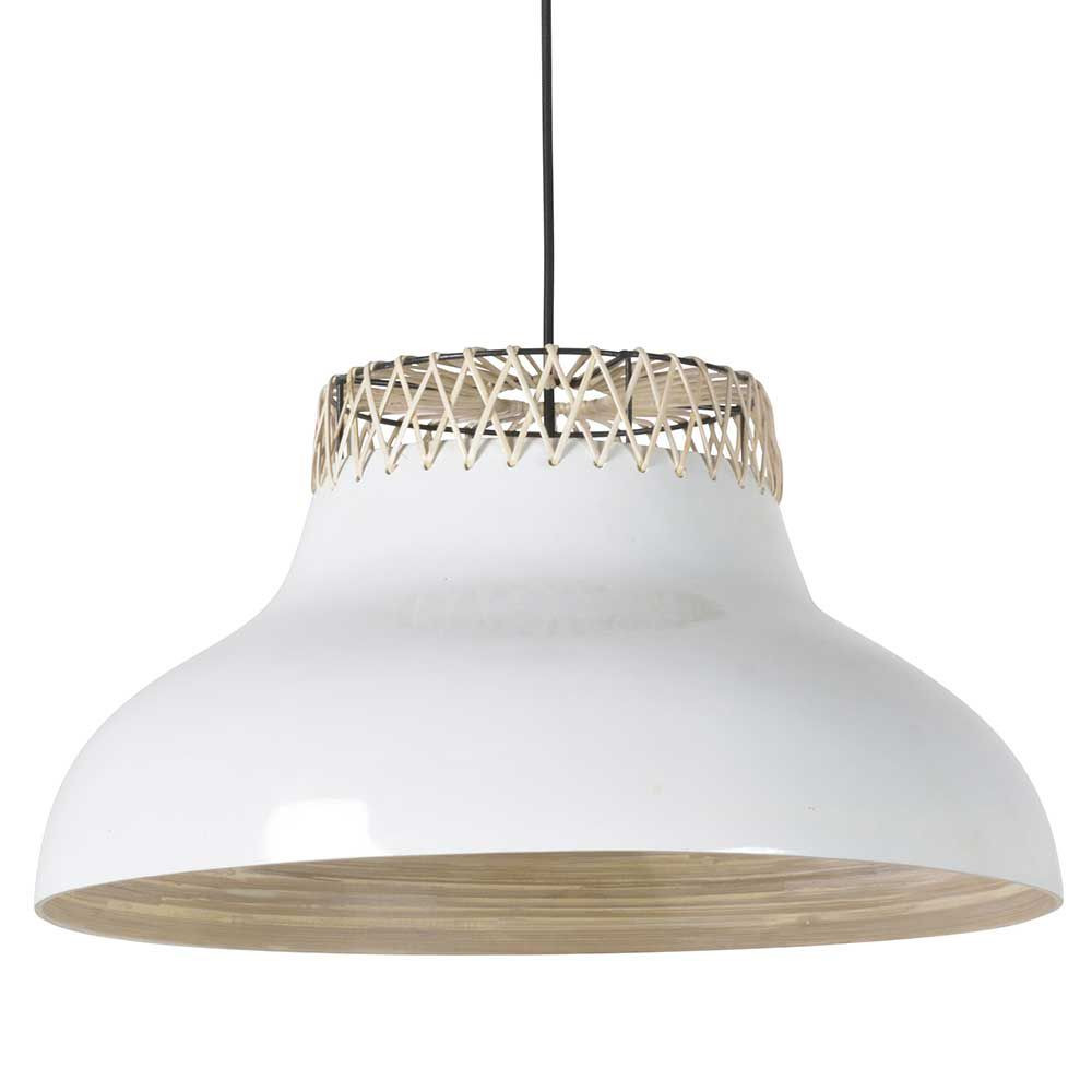 luminaire tendance blanc en bambou et rotin. Black Bedroom Furniture Sets. Home Design Ideas