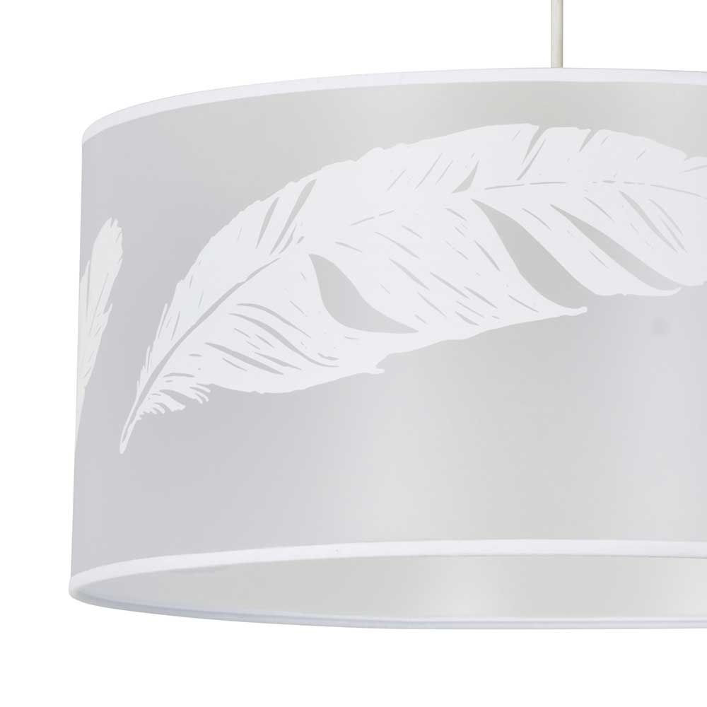 Et Cylindrique Dessin Blanc Luminaire De Plumes 76gyfb