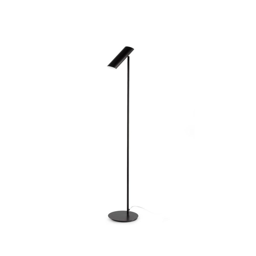 Lampadaire design noir luminaire design faro for Spot exterieur sur pied