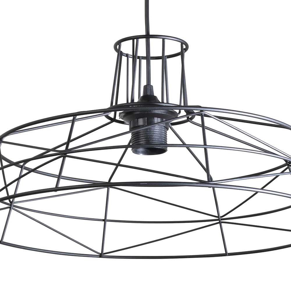 suspension noire moderne en fil de m tal. Black Bedroom Furniture Sets. Home Design Ideas