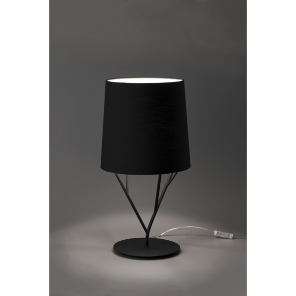 lampe design abat jour noir luminaire design noir. Black Bedroom Furniture Sets. Home Design Ideas