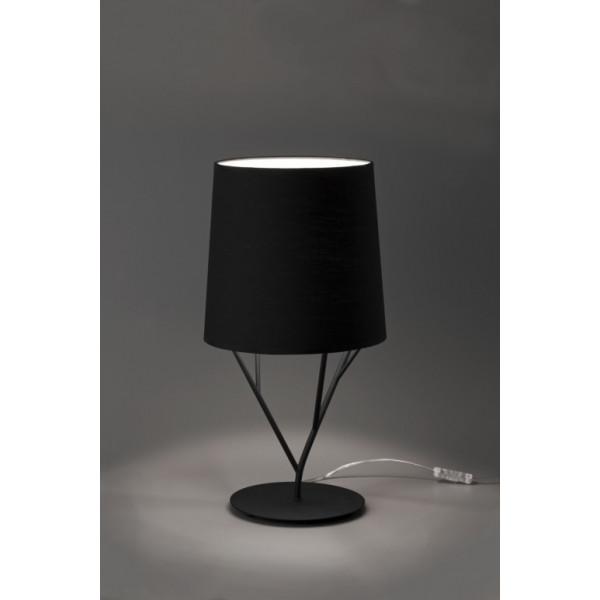 Lampe design noire abat-jour noir