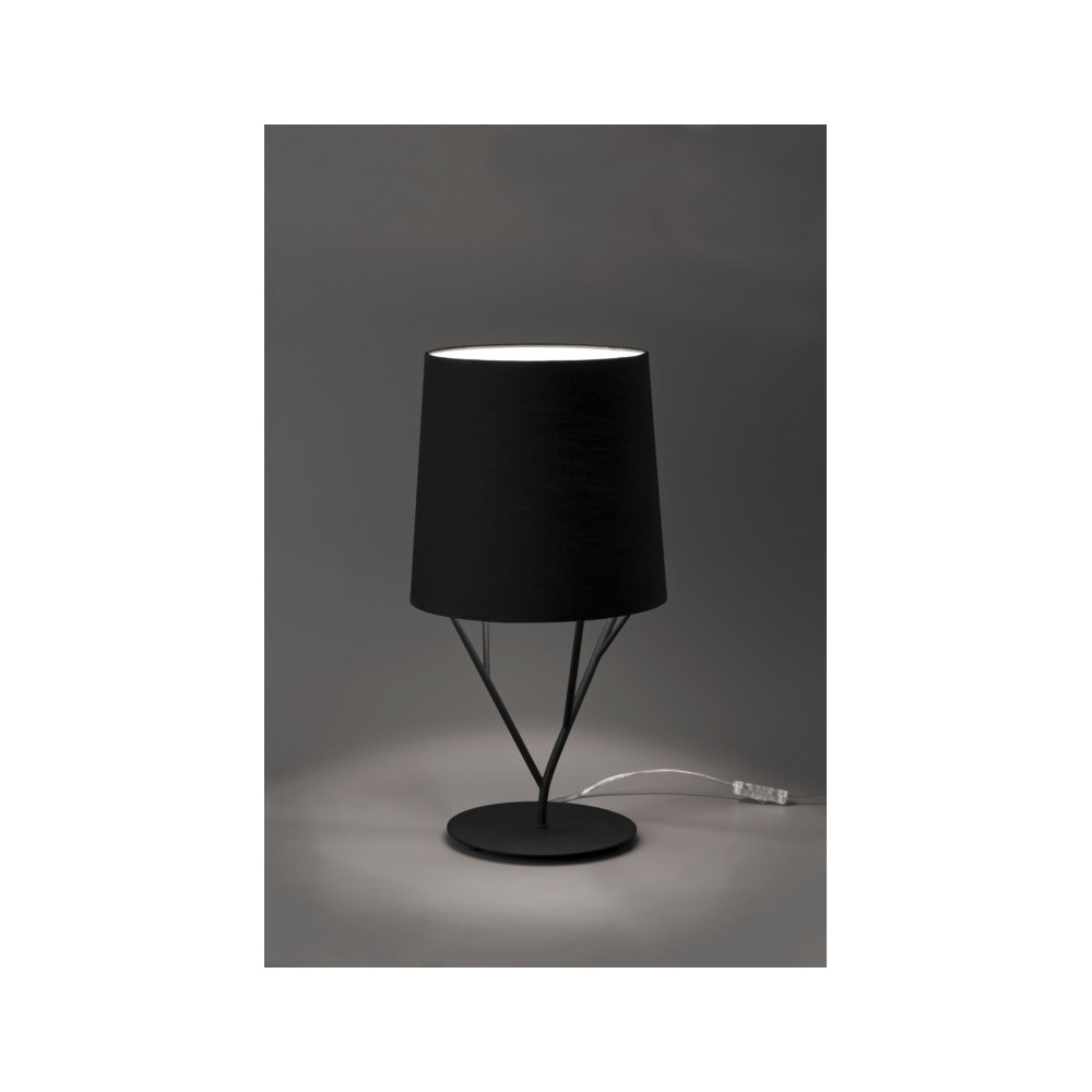 Lampe design abat jour noir luminaire design noir for Lampe suspension noire