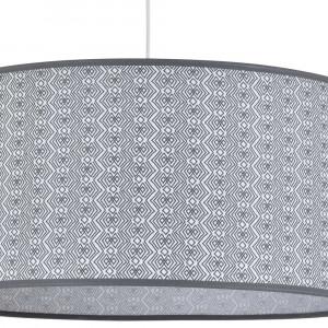Luminaire abat-jour motifs gris