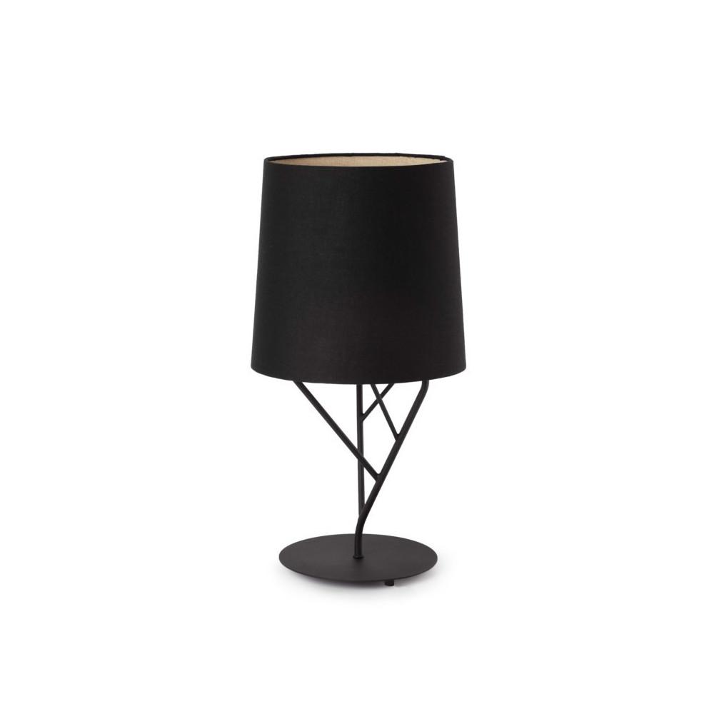 Lampe design abat jour noir luminaire design noir for Lampara de mesa led