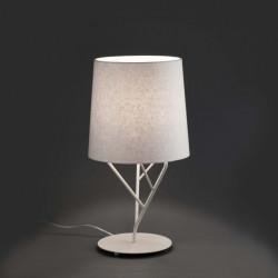 Lampe design blanche abat-jour blanc