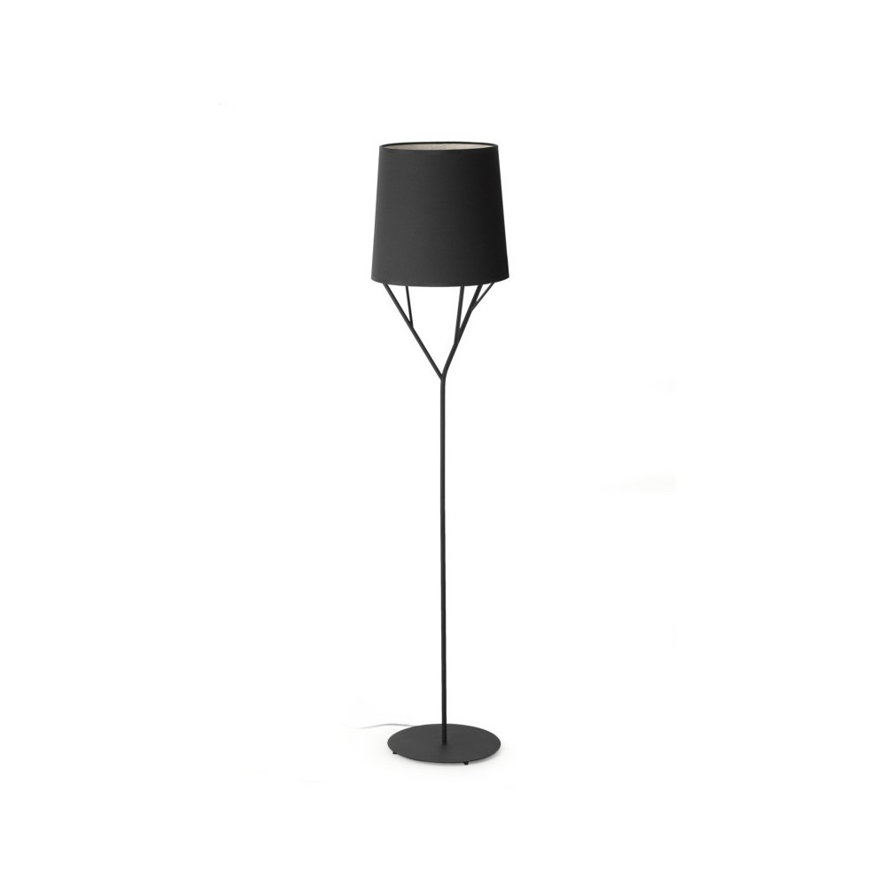 lampadaire design abat jour noir luminaire design noir. Black Bedroom Furniture Sets. Home Design Ideas