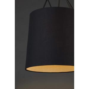 Suspension design noire abat-jour noir