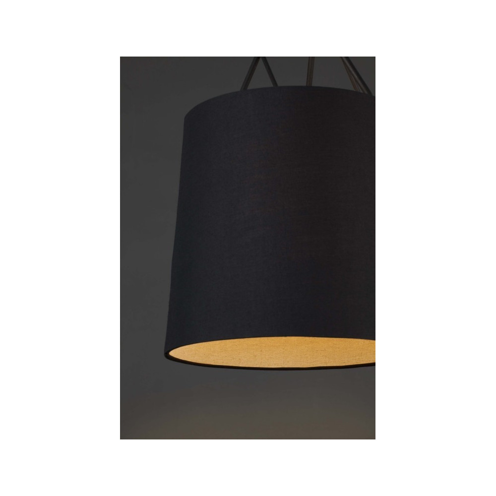Suspension design abat jour noir luminaire design noir for Suspension design noir
