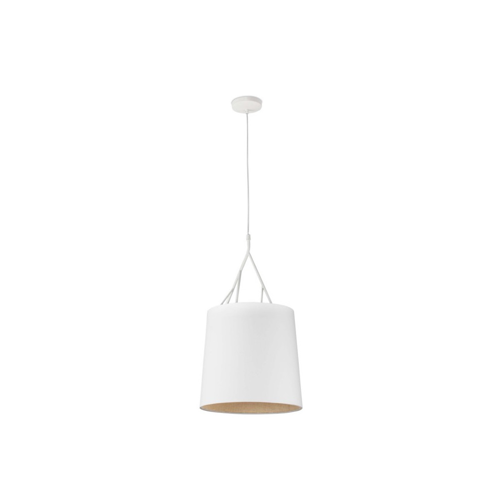 Suspension design abat jour blanc luminaire design blanc for Eclairage suspension design