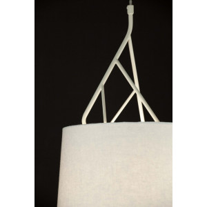 Suspension design blanche abat-jour blanc