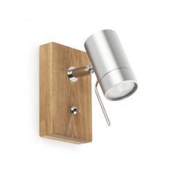 Applique bois interrupteur