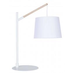 Lampe scandinave bois métal blanc
