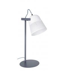 Lampe bureau grise métal