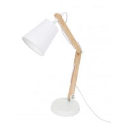 Lampe blanche bois articulée