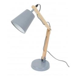 Lampe bureau grise bois