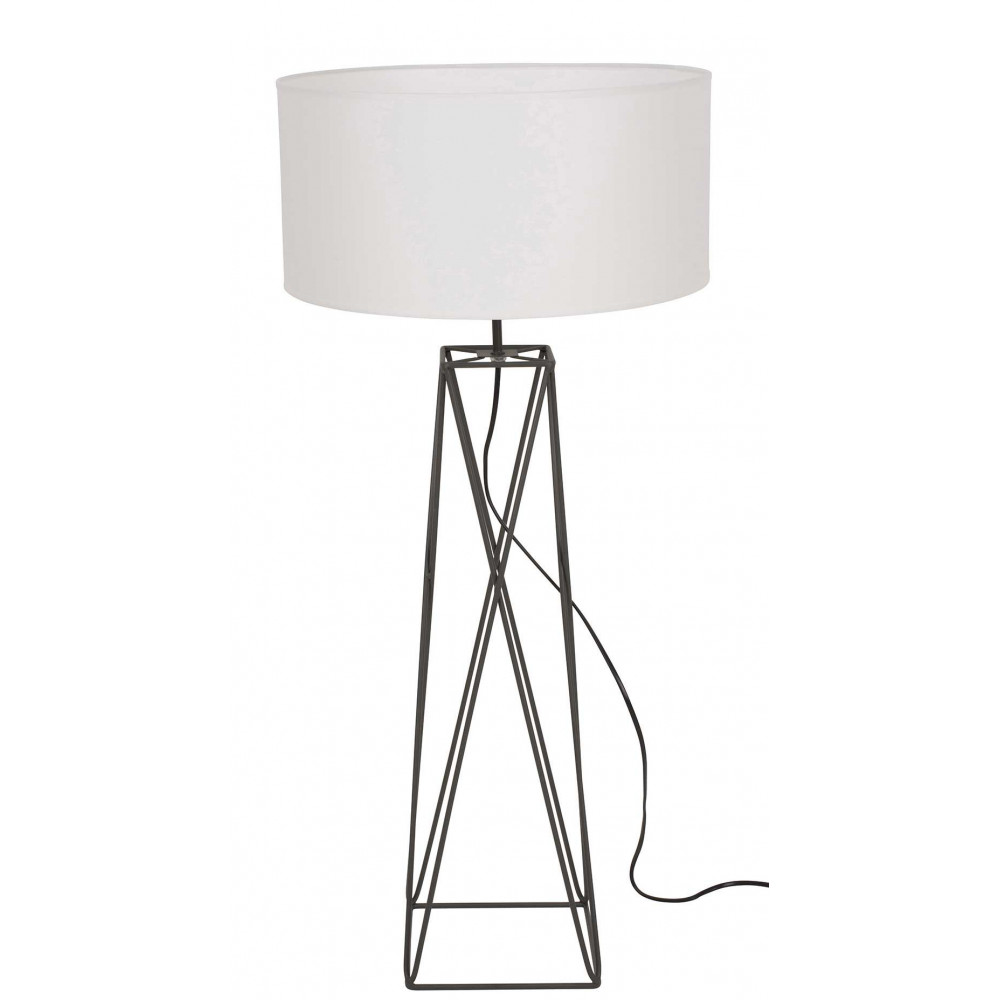 Grande Lampe Design Abat Jour Blanc