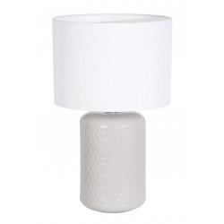 Lampe blanche céramique grise