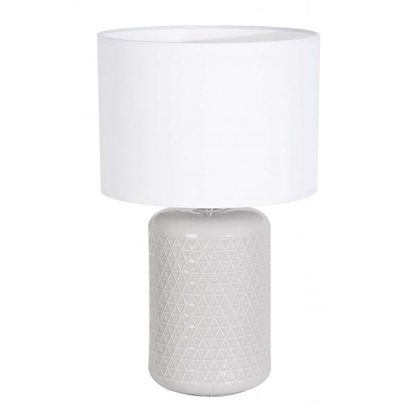 Lampe A Poser Ronde Blanche Et Grise