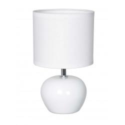Lampe salon céramique blanche