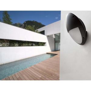 Applique extérieur demi ronde nore et blanche Faro