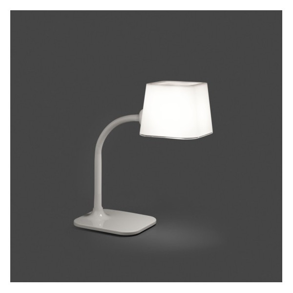Lampe de table flexible blanche Faro