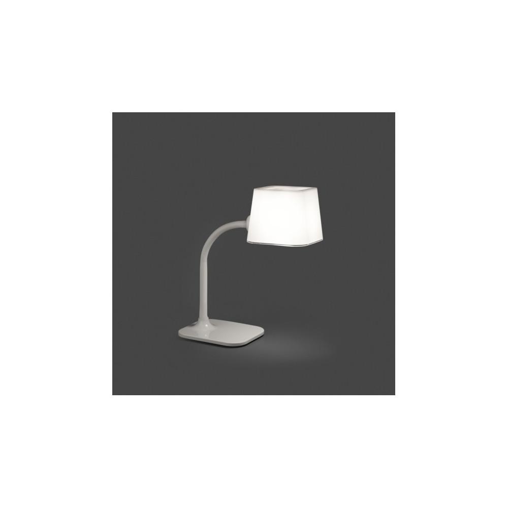 Lampe design flexible blanche luminaire design sur lampe for Lampe de table blanche
