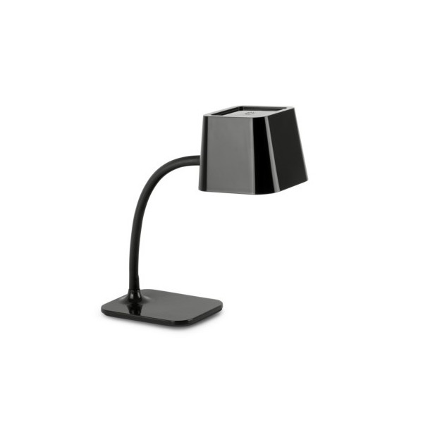 Lampe de table flexible noire Faro