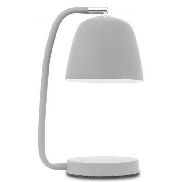 lampe poser grise aspect velout. Black Bedroom Furniture Sets. Home Design Ideas