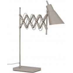 Lampe bureau métal gris