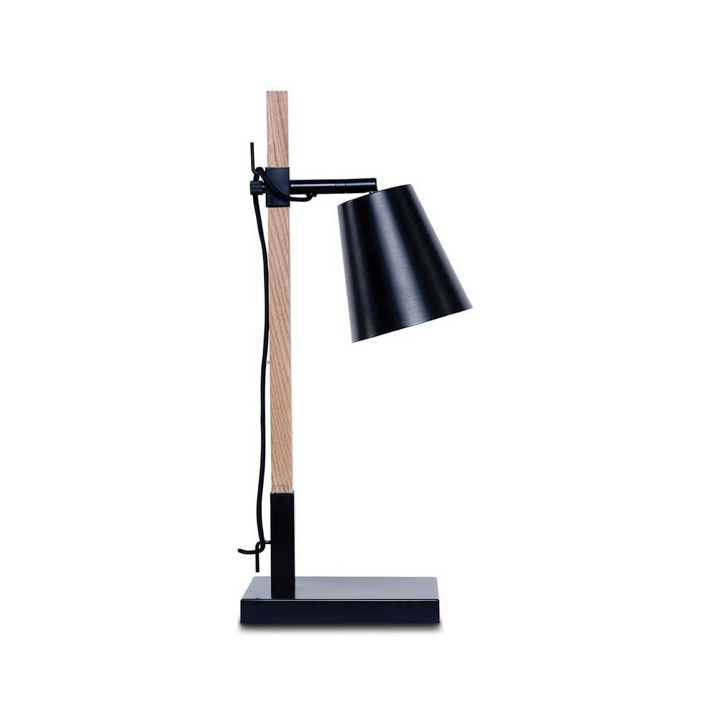 lampe style nordique bois et m tal noir. Black Bedroom Furniture Sets. Home Design Ideas