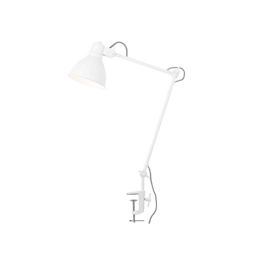 lampe blanche articul e pince. Black Bedroom Furniture Sets. Home Design Ideas